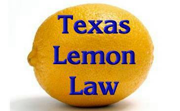 Texas Lemon Law >> Texas Lemon Law Guide